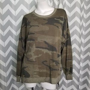DANTELLE camo crew neck sweater
